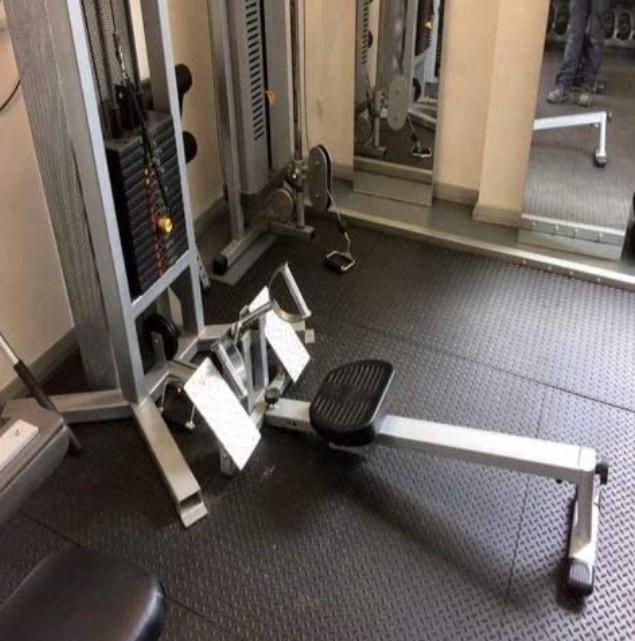 Heavy Duty Gym Matts are easy to put down