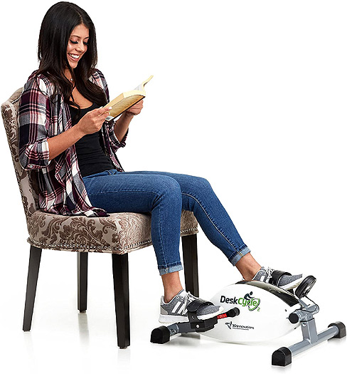 DeskCycle for reading