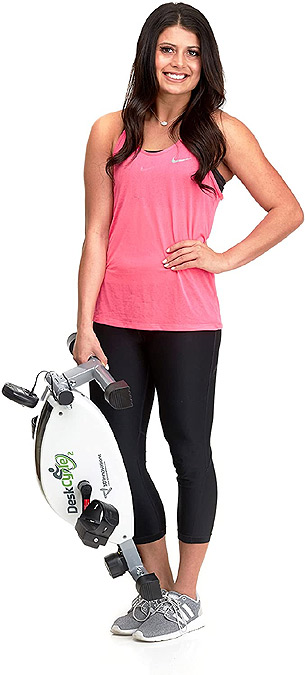 Girl with DeskCycle 2