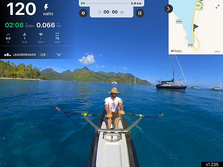 Kinomap rowing video