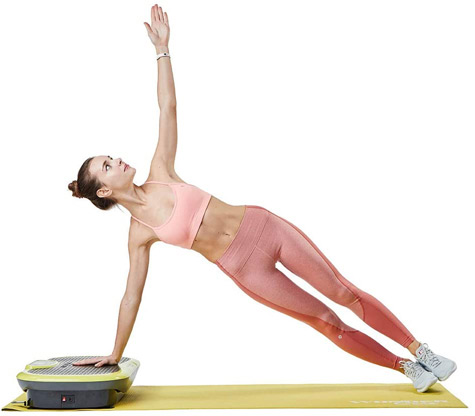 Training on a vibration plate