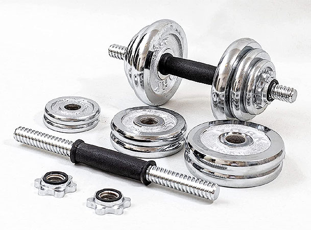 Spin Lock Chrome Weights