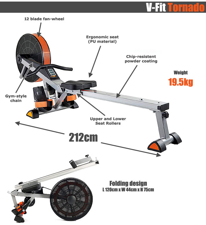 V-Fit Air Rower Explainer