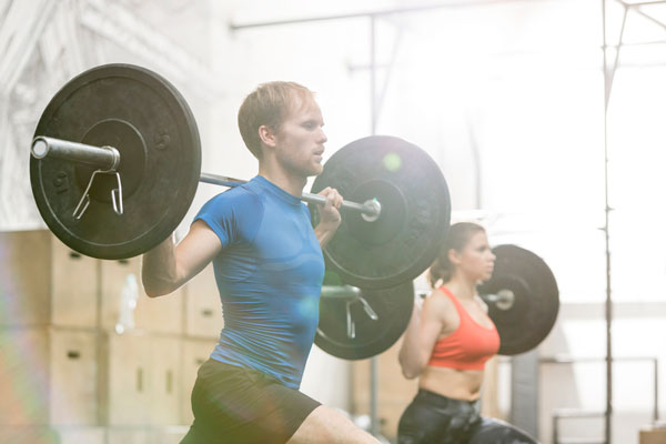 Difference men's and women's barbell