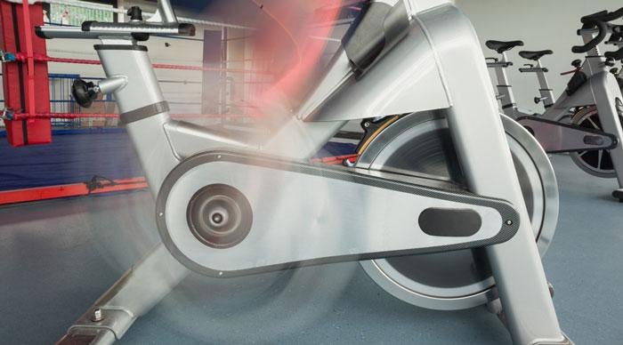 Exercise Bike and a Spin Bike - uses - Flywheel Wheel