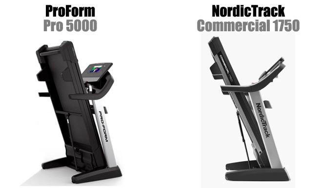 Folded capacity - Proform 5000 vs NordicTrack 1750