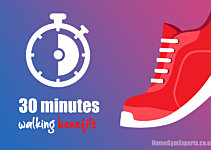 What are the benefits of 30 minutes of walking?