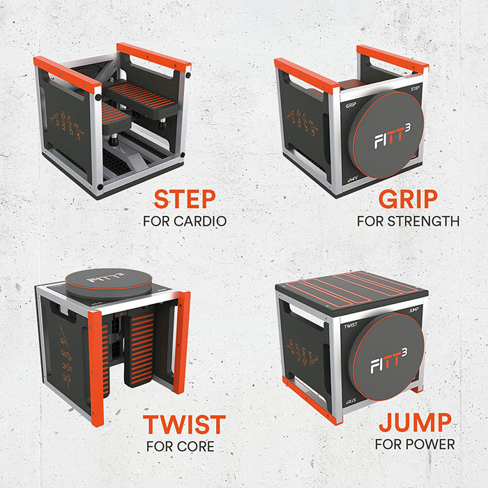 FittCube - Step, Grip, Jump and Twist