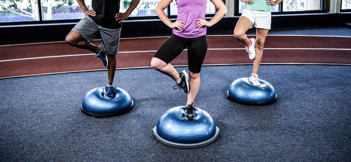 Bosu Ball - one-legged lats