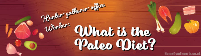 Hunter-gatherer-office Worker What is the Paleo Diet - strip image