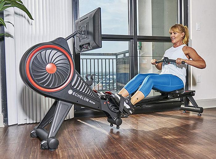 The Echelon Row – Woman using Echelon's New Smart Rower