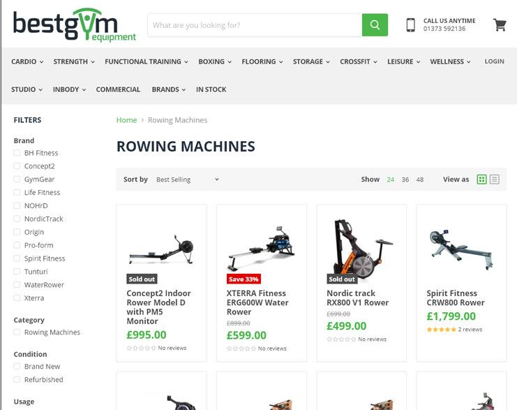 Best Gym Equipment - Rowing Machines