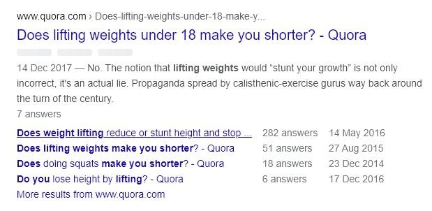 Forums weight lifting shorter