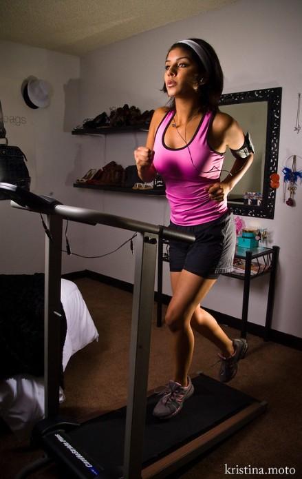 Girl on treadmill