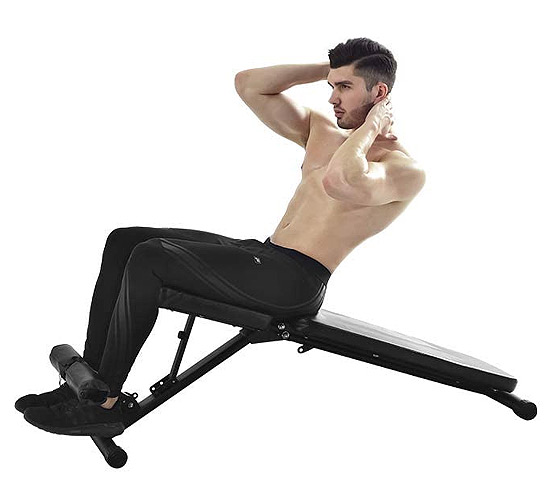 Incline sit ups for core