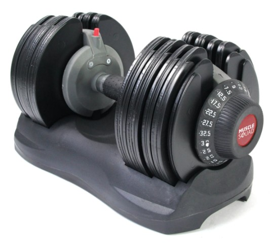MuscleSquad Adjustable Dumbbell