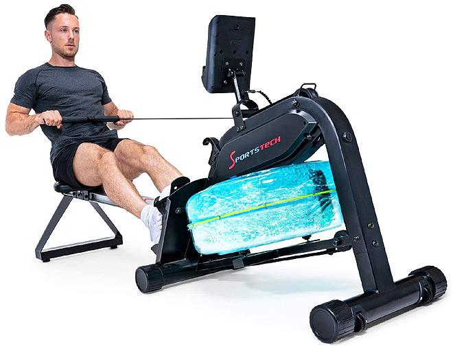 Sportstech Premium Water Rowing Machine