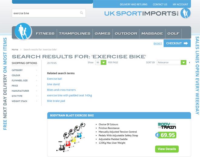 UK Sports in stock