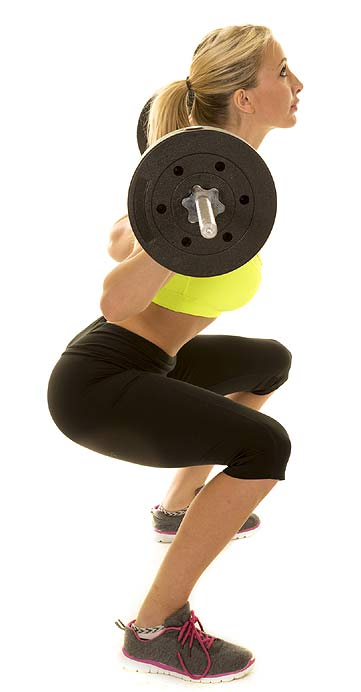 The weighted squat is one of the most important exercises for legs and thighs