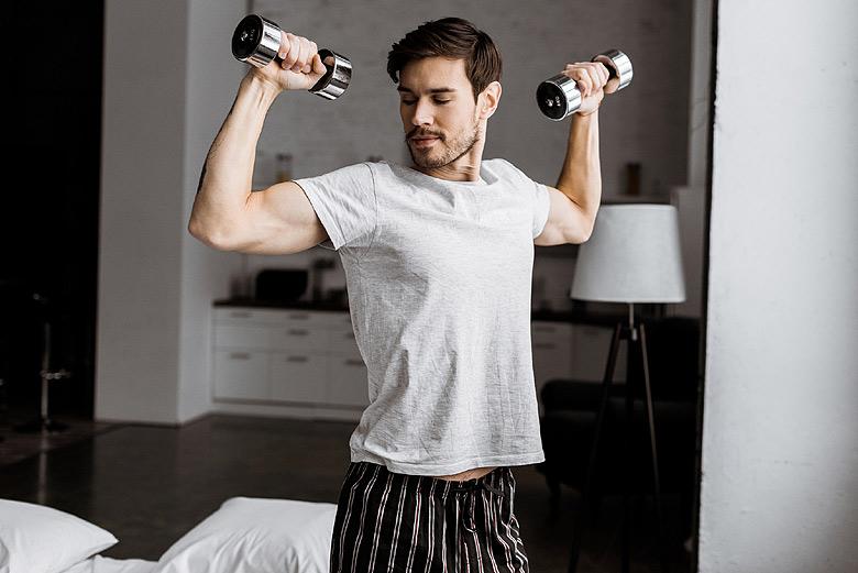 Bigger biceps at home