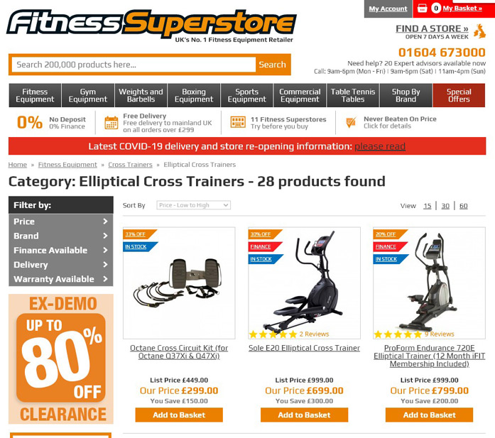 Fitness Superstore in stock