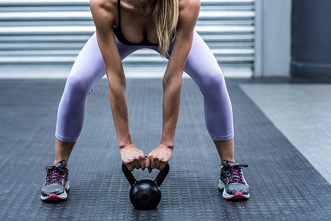 Kettle bells for core training