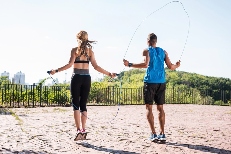 Skipping to lose belly fat