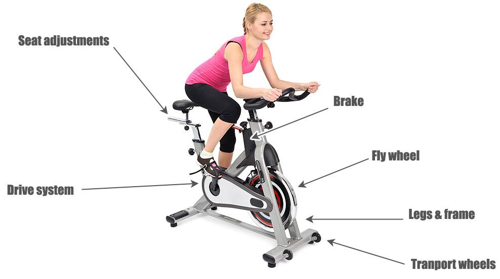 Spinning bike diagram
