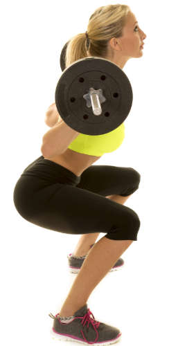Squats for thigh muscles